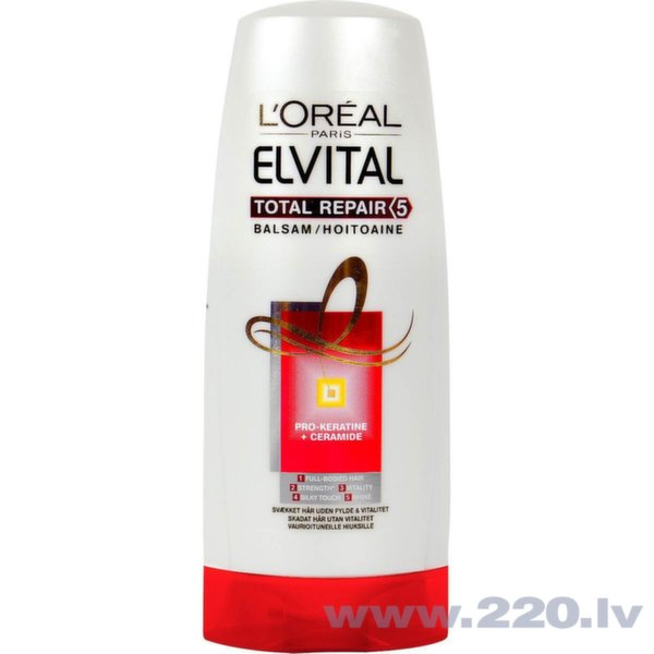 L'Oreal Paris Elvital Total repair 5 Balzams bojātiem matiem, 200 ml