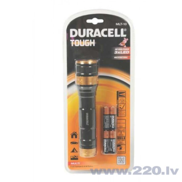3 LED Duracell lukturis, 3W