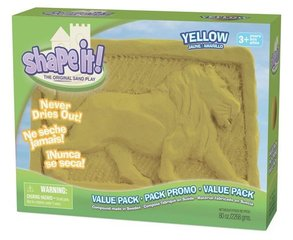 Kinētiskās smiltis Shape it!, 2,2 kg, dzeltenas