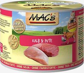 Konservi kaķiem Mac's Veal & Turkey 800 g