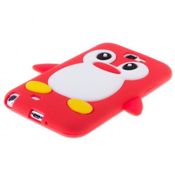 Silikona 3D telefona aizmugurējais apvalks Zooky priekš Samsung N7100 Galaxy Note 2 Pingvīns Sarkans cena