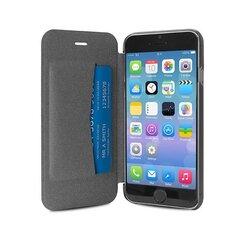 Aizmugures apvalks PURO telefonam iPhone 6 Plus, caurspīdīga aizmugure, melns cena un informācija | Maciņi, somiņas | 220.lv