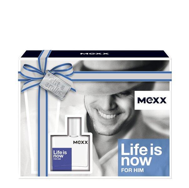 Komplekts Mexx Life is Now For Him: EDT 30 ml + dušas želeja 50 ml cena un informācija | Vīriešu smaržas | 220.lv
