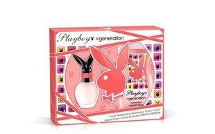 Komplekts Playboy Generation For Her: EDT 30 ml + dušas želeja 250 ml cena un informācija | Smaržu komplekti | 220.lv