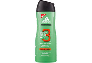 Dušas želeja Adidas Active Start 3in1 400 ml
