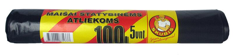 Maisi celtniecībasatkritumiem Skubis 100L, 5 gab cena un informācija | Miskastes maisi | 220.lv