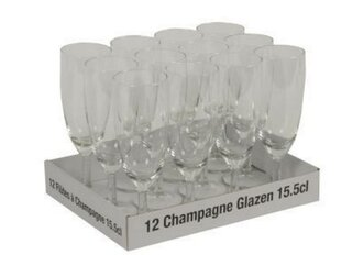 Šampanieša glāzes, 12 gab.