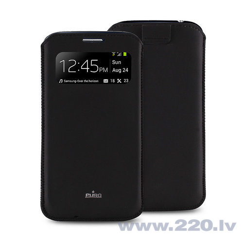 Aizmugures apvalks Puro telefonam Galaxy S4 (PCCS4VIEWBLK)