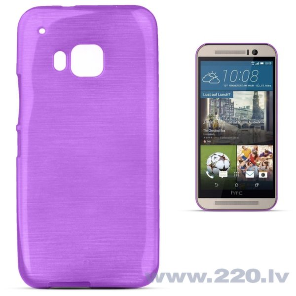 Forcell Jelly Brush Perlamutra telefona silikona apvalks HTC One M9 Violets