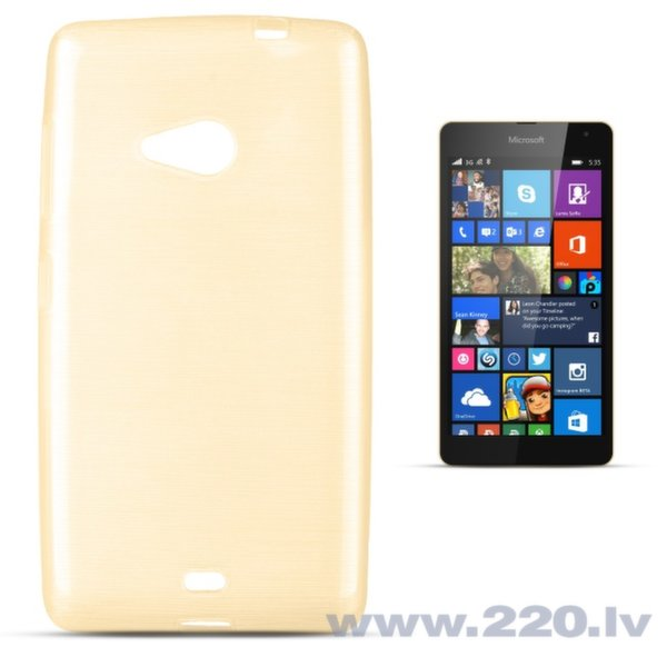 Forcell Jelly Brush Perlamutra telefona silikona apvalks Microsoft 535 Lumia Zeltains