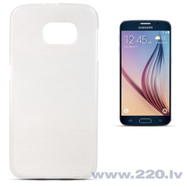 Forcell Jelly Brush Perlamutra telefona silikona apvalks Samsung G920 Galaxy S6 Balts