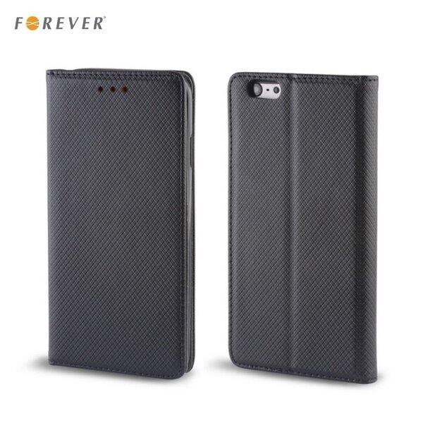 Forever Чехол-книжка с магнитной фиксацией для мобильного телефона Samsung A800 Galaxy A8, Чёрный