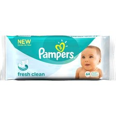 Салфетки PAMPERS Fresh Clean, 64 шт. цена и информация | Подгузники и аксесуары | 220.lv