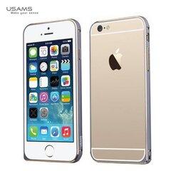 Aizsargrāmis Usams Super Thin Arco Aluminium Bumper, paredzēts Apple iPhone 6 Plus / 6S Plus, pelēks