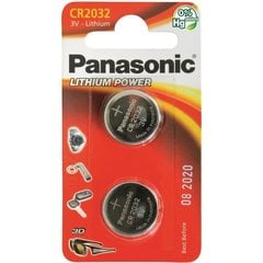 Baterija Panasonic Lithium CR2032 2BP, 2 gb.