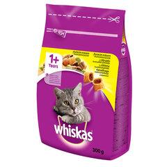 Whiskas 1+ sausā barība ar cāļa gaļu 300 g