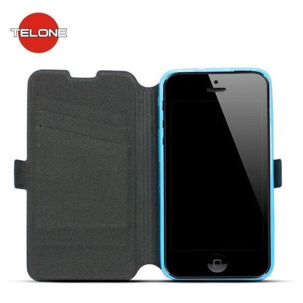 Telone Супер тонкий чехол-книжка со стендом для мобильного телефона LG Zero Синий