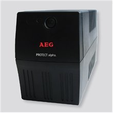 AEG UPS Protect alpha. 450/ 450VA, 240W/ 4x IEC-320 battery backup and overvoltage protection / Fax. Modem line protection / USB / Automatic Voltage Regulation / Line interactive / Free UPS shutdown software download