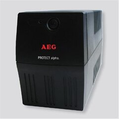 AEG UPS Protect alpha. 800/ 800VA, 480W/ 4x IEC-320 battery backup and overvoltage protection / Fax. Modem line protection / USB / Automatic Voltage Regulation / Line interactive / Free UPS shutdown software download cena un informācija | UPS- Nepārtrauktās barošanas bloki | 220.lv