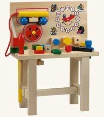 Amatnieku koka darba galds ar instrumentiem Bino cena un informācija | Rotaļlietas zēniem | 220.lv