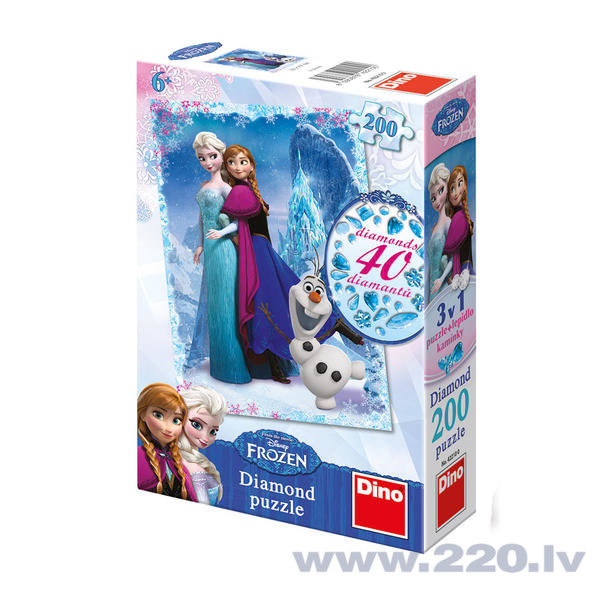 Пазлы Dino Frozen Diamond, 200 частей, 422100
