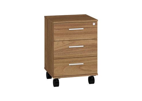 Шкафчик с выдвижными ящиками на колесиках Optimal 24, цвет дуба цена и информация | Шкафчики в гостиную | 220.lv