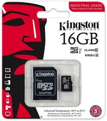 Kingston micro SD 16GB Class 10 U1 + adapteris