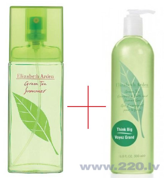 Komplekts Elizabeth Arden Green Tea Summer edt 100 ml + Dušas želeja Elizabeth Arden Green Tea 500 ml