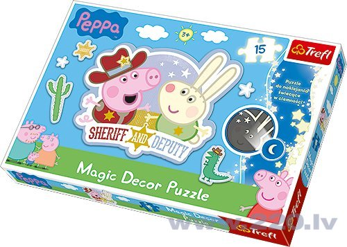 "Puzle Trefl Magic Decor ""Peppa Pig"" 15 gab."