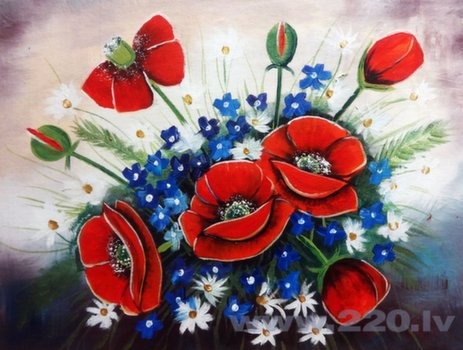 Reprodukcija Ziedi cena un informācija | Gleznas | 220.lv