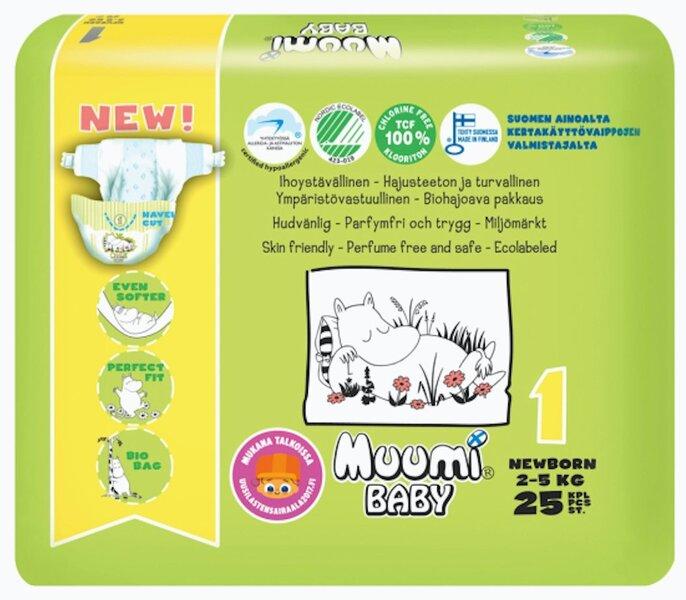 Подгузники Muumi Baby Newborn (1), 2-5 кг, 25 шт.