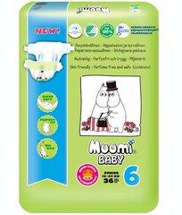 Autiņbiksītes Muumi Baby Junior (6) 12-24 kg, 36 gab. cena un informācija | Autiņbiksītes | 220.lv