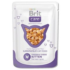Konservi BRIT CARE Kitten Chicken & Cheese 80g
