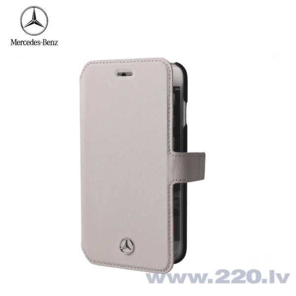 Mercedes MEFLBKP6PLGR Pure Line Ādas Super plāns sāniski atverams maks Apple iPhone 6 6S 4.7 inch Pelēks