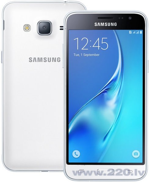 Samsung Galaxy J3 J320F/DS 8GB LTE Dual White (balts)