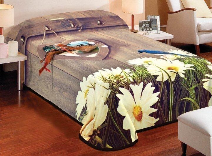 Gultas pārklājs 3D, 155x220 cm cena un informācija | Dekoratīvie gultas pārklāji un pledi | 220.lv