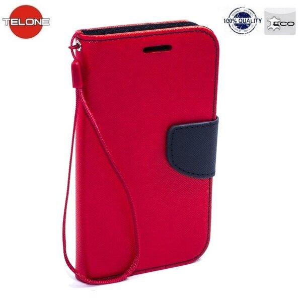 Telone Fancy Diary Book Case Чехол-книжка со стендом для мобильного телефона Huawei P9 Lite, Красный/Синий