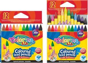 Krāsainie zīmuļi COLORINO KIDS (12 krāsas), 57301PTR cena un informācija | Kancelejas preces | 220.lv