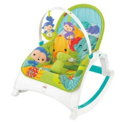 Šūpuļkrēsls Fisher Price Rainforest Friends Newborn-to-Toddler Portable Rocker, CMR10