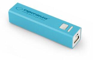 Powerbank Esperanza 2400мАч (Синего цвета) цена и информация | Внешние зарядные аккумуляторы (Power bank) | 220.lv