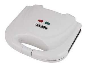 Mesko MS 3014 Sandwich maker, 700W, Non-stick plated, Cool touch plastic housing, Thermostat, White