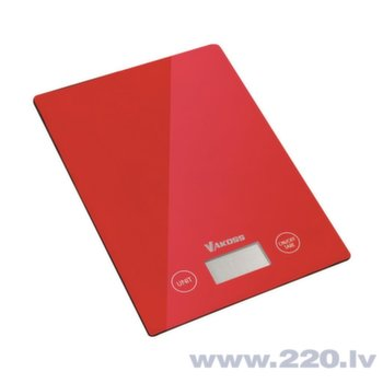 Kitchen scale Vakoss WH-5368R | red
