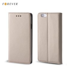 Forever magnēstikas fiksācijas, sāniski atverams maks, bez klipša Samsung J120F Galaxy J1, zeltains