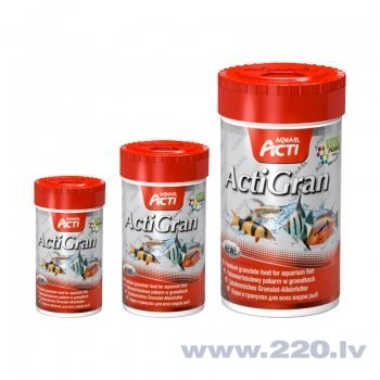"Visu veidu zivju barība Aquael Action ""ActiGran""250 ml cena"