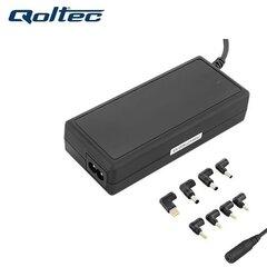 Universāls portatīvu datoru lādētājs Qoltec 50012 90W (Max 4.75A) Melns + 8 uzgaļi
