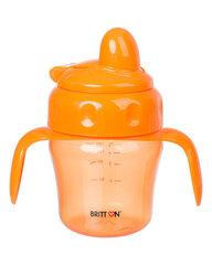 Bērnu krūzīte ar mīkstu snīpi BRITTON, 150 ml, oranža