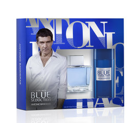 Комплект Antonio Banderas Blue Seduction: edt 100 мл + дезодорант 150 мл