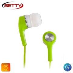 Setty Universālas X-Bass 3.5mm In-Ear Austiņas priekš MP3/Mp4 mūzikas bez mikrofona Zaļas