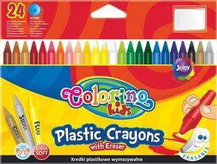 Vaska krītiņi ar dzēšgumiju Colorino, 24 krāsas