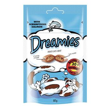 Dreamies delikatese kaķiem ar lasi 60 g x 6